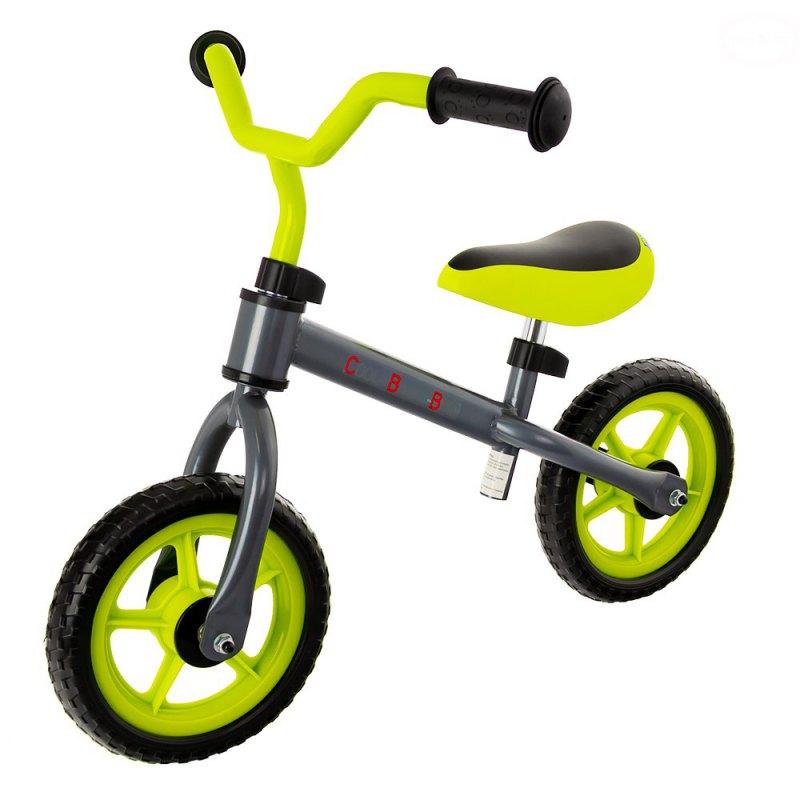 Bicicleta fara pedale Eurobaby cool baby bike verde cu gri