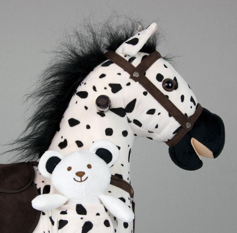 Calut Balansoar cu sunete si miscare Mustang Black Dot imagine