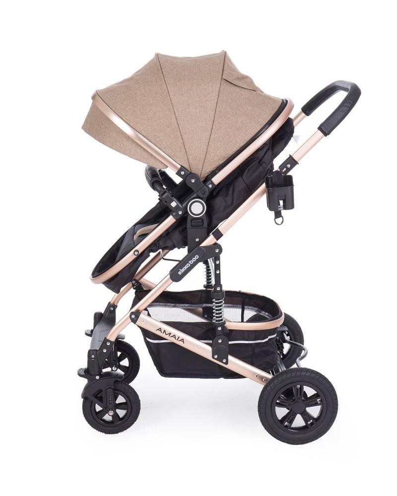 Carucior transformabil KikkaBoo 2 in 1 Amaia Beige imagine