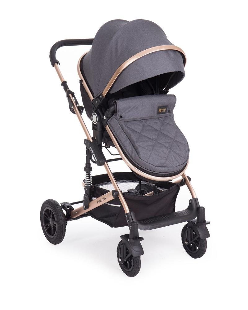 Carucior transformabil KikkaBoo 2 in 1 Amaia Black imagine