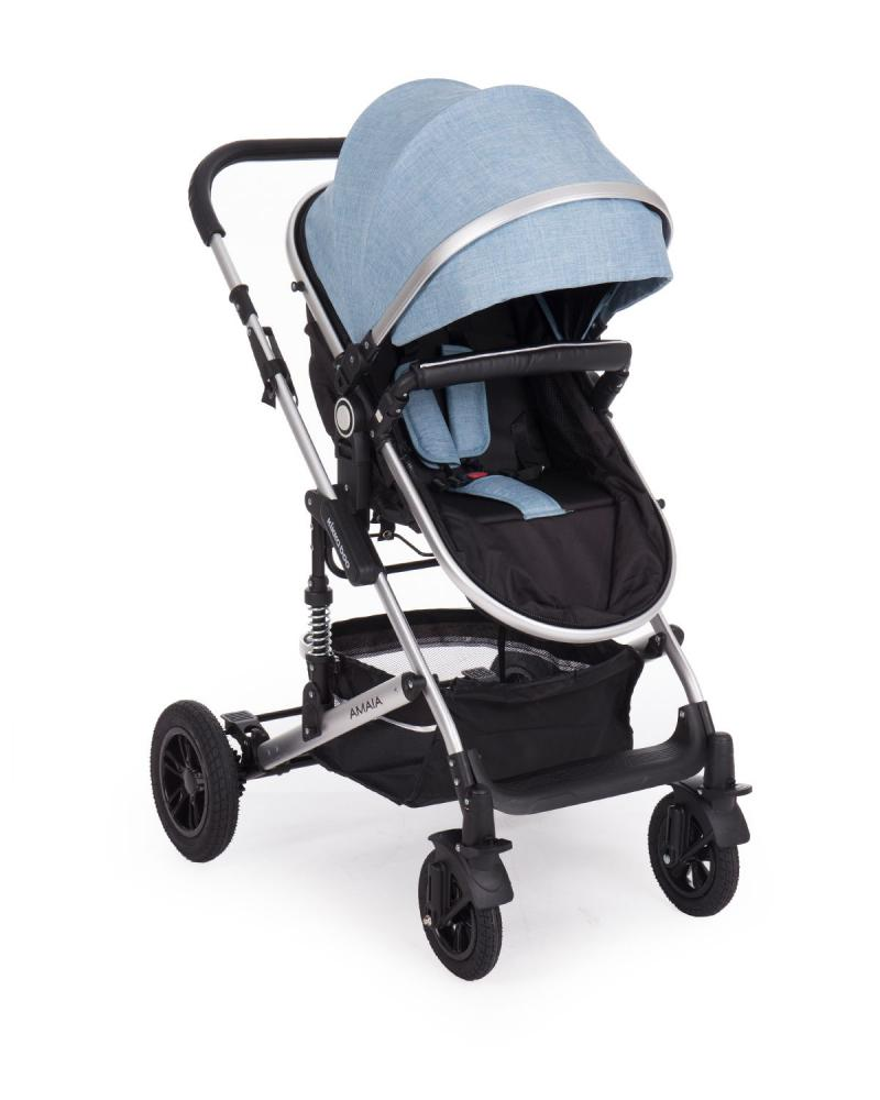 Carucior transformabil KikkaBoo 2 in 1 Amaia Blue imagine