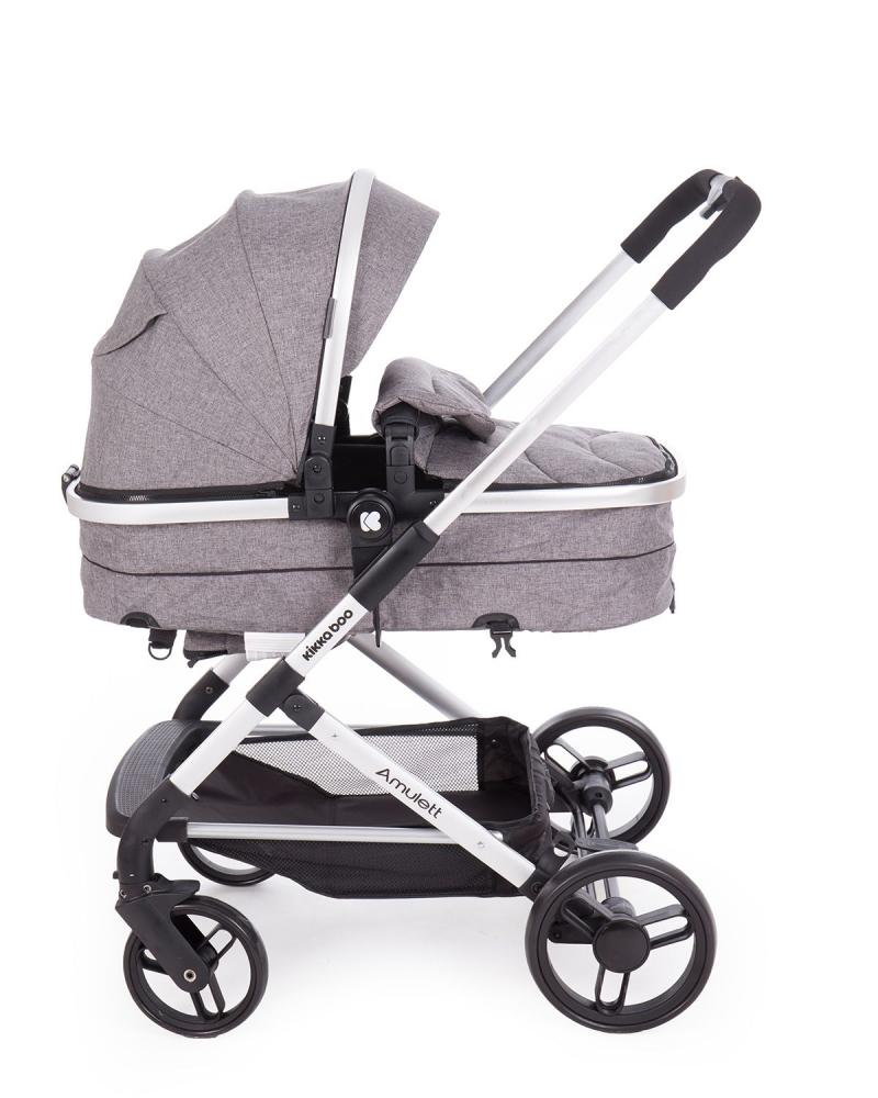 Carucior transformabil KikkaBoo 2 in 1 Amulett Grey