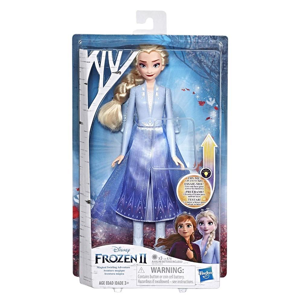 Papusa Frozen 2 Elsa cu rochita luminoasa
