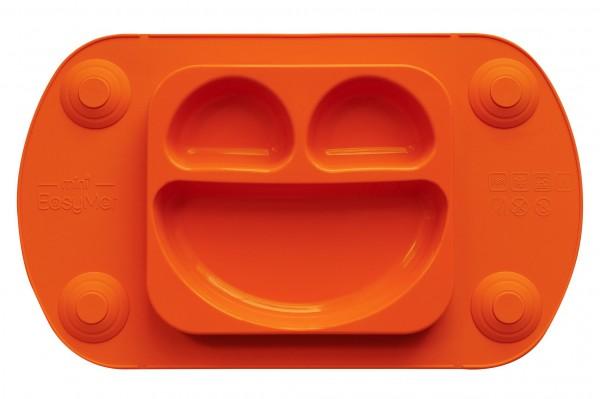 Farfurie autodiversificare portabila EasyMat Mini EasyTots cu ventuze Portocalie