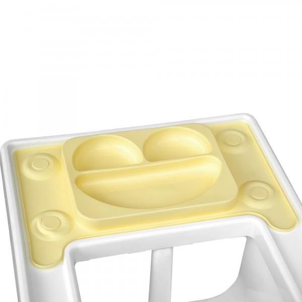 Farfurie autodiversificare portabila EasyMat Perfect fit Ikea EasyTots cu ventuze Galben