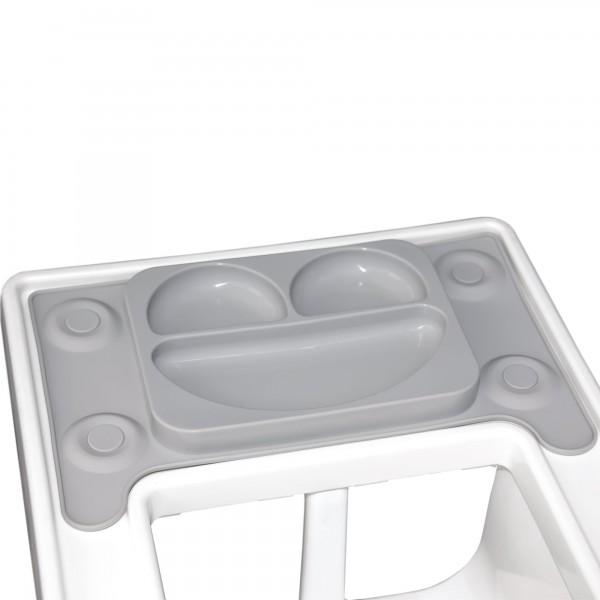 Farfurie autodiversificare portabila EasyMat Perfect fit Ikea EasyTots cu ventuze Gri