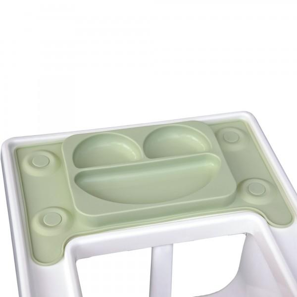 Farfurie autodiversificare portabila EasyMat Perfect fit Ikea EasyTots cu ventuze Verde