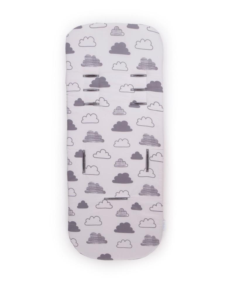 KikkaBoo Husa carucior din spuma cu memorie si 2 fete KikkaBoo Fluffy Clouds