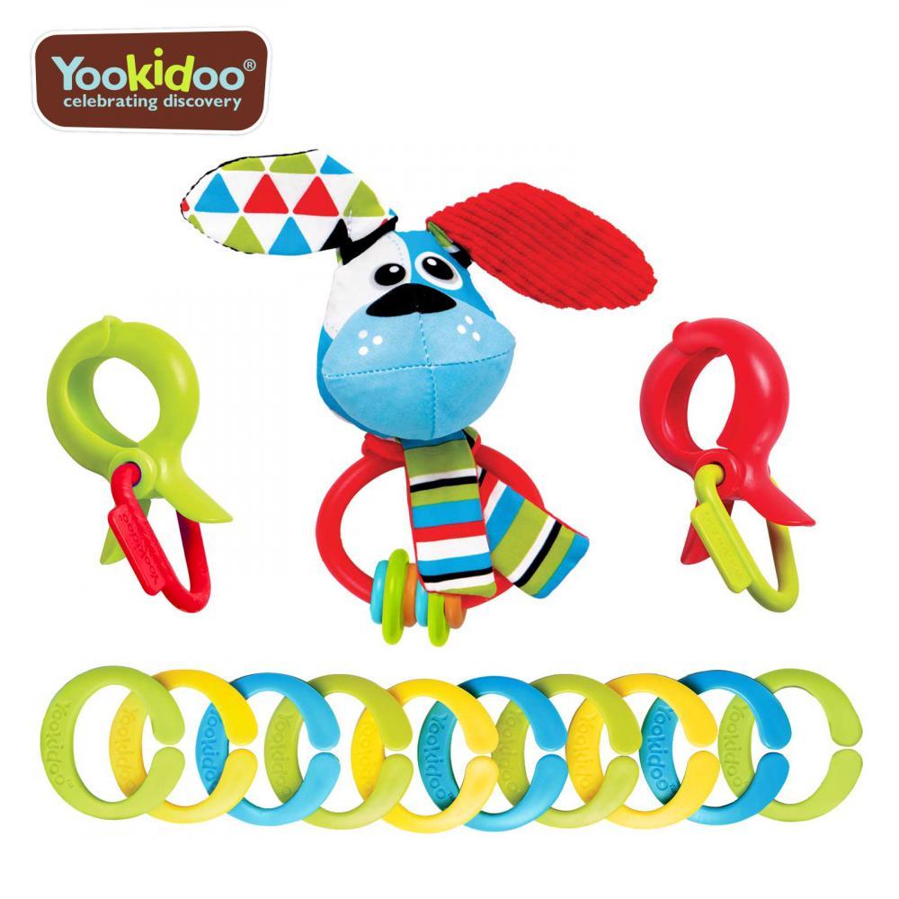 Yookidoo Jucarie clips cu agatatori catel Yookidoo 0 luni+