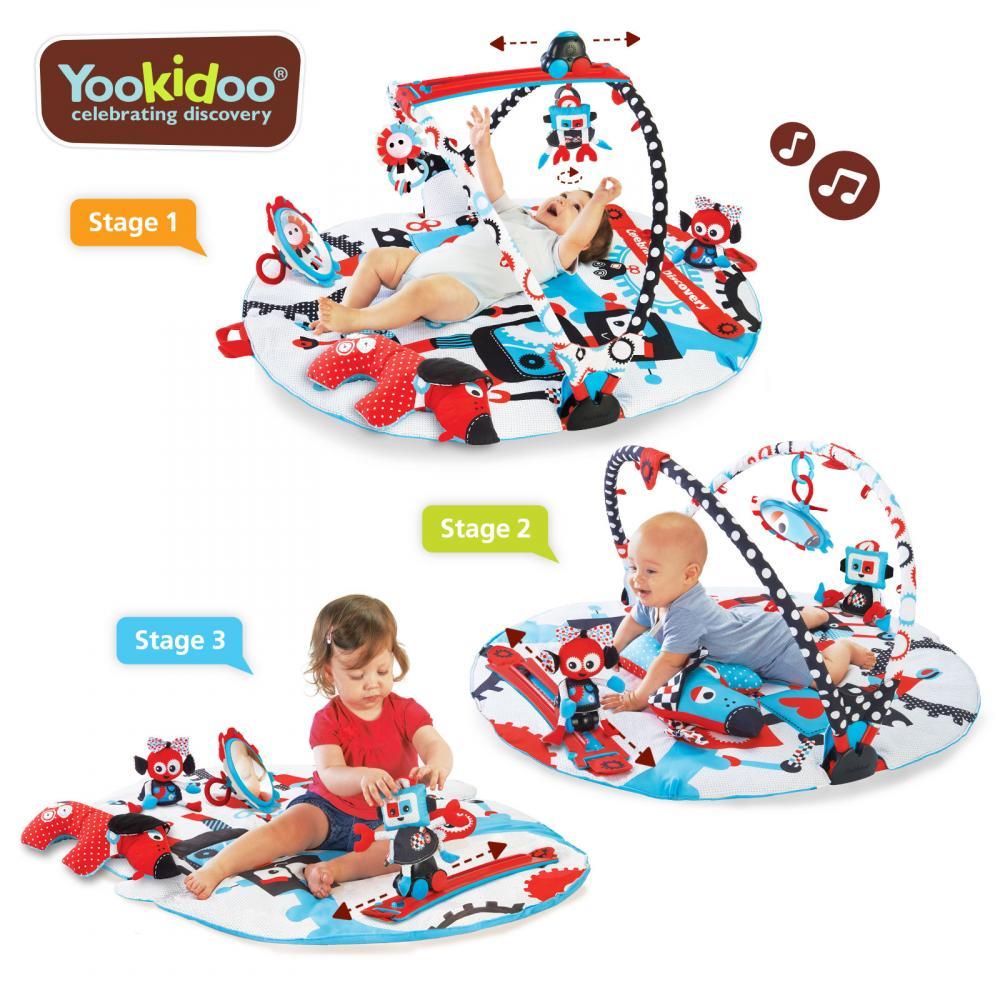 Jucarie centru de joaca cu jucarii mobile si activitati fizice robo Yookidoo 0-12 luni imagine