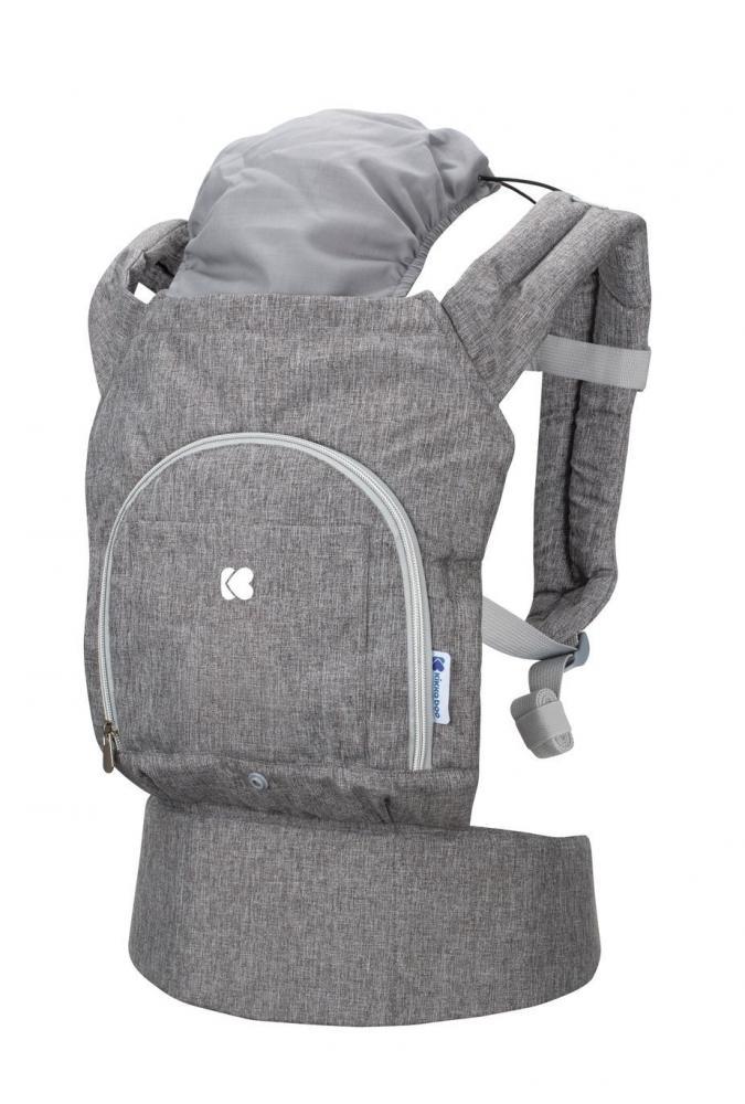 Marsupiu pentru copii KikkaBoo Hoody Grey din categoria La Plimbare de la KikkaBoo