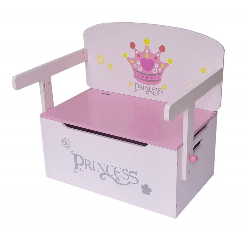 Mobilier 2 in 1 pentru depozitare jucarii Princess