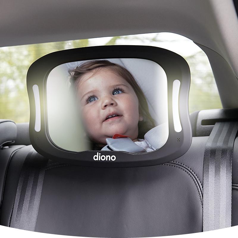 Oglinda retrovizoare cu lumina Diono Easy View Xxl