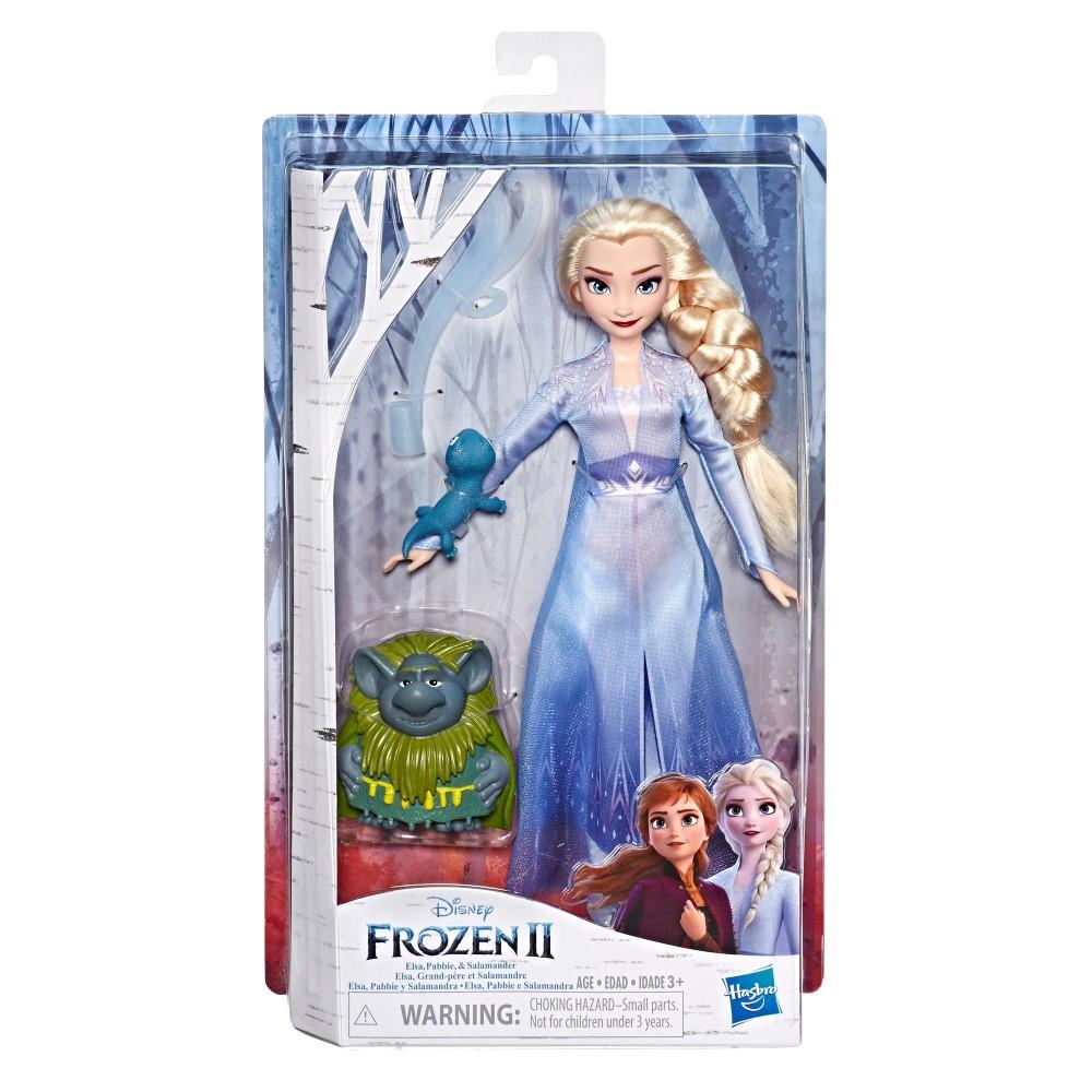 Papusa Elsa Frozen 2 cu prietenii Pabbie si Salamander