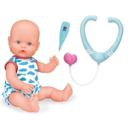 Papusa Bebelus Nenuco Baietel cu Stetoscop si Termometru