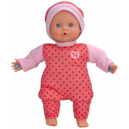 Papusa Bebelus Nenuco in Pijama Roz cu 3 Functii