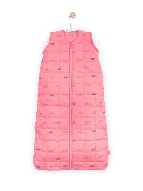Sac de dormit bebe roz Jollein Little Boats 110 cm