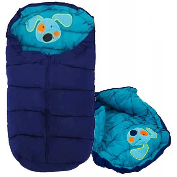 Sac de iarna 4 in 1 Tutumi catel albastru inchis turcoaz