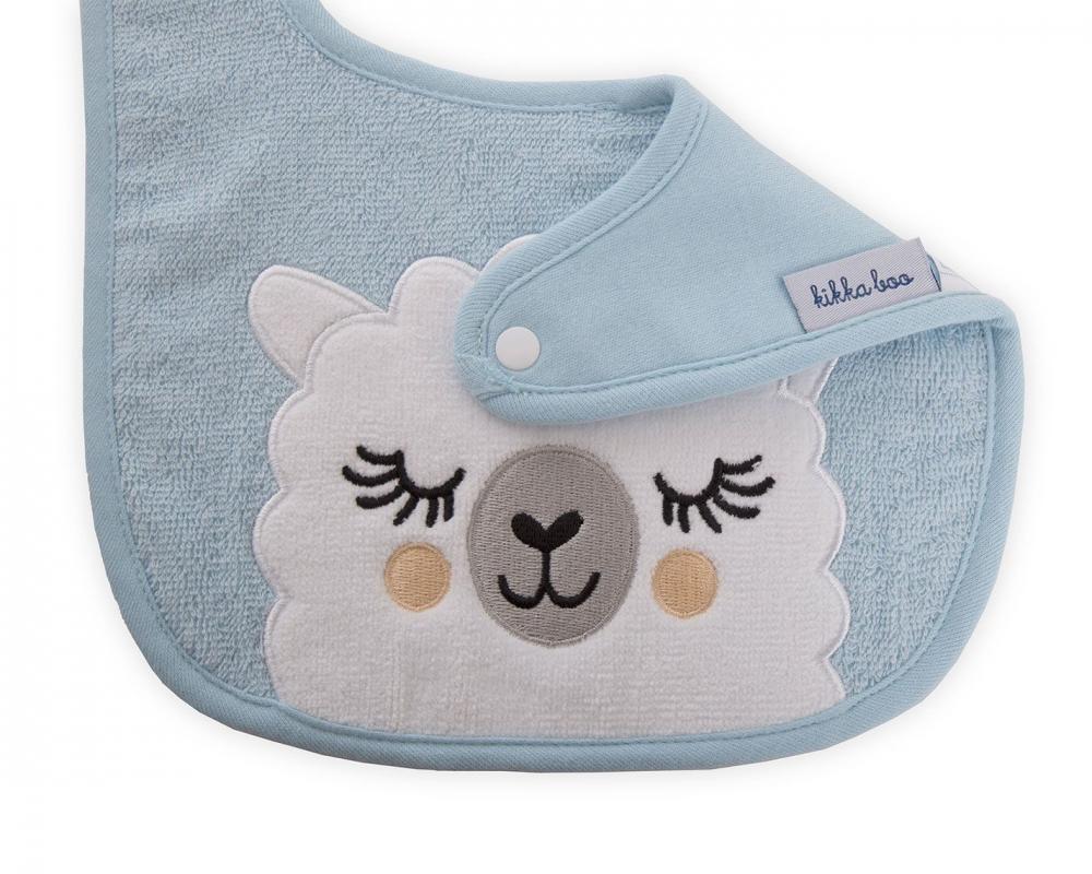 Set 2 bavete Sleepy Lama blue
