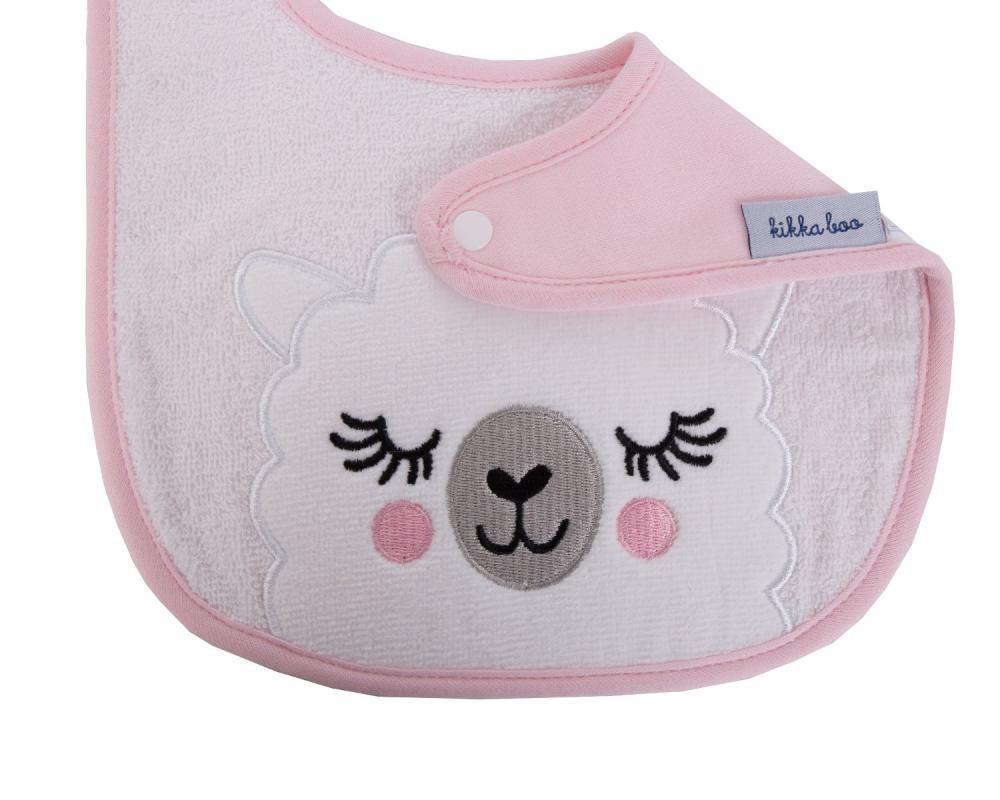 Set 2 bavete Sleepy Lama pink