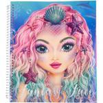 Carte de colorat Create your Fantasy Face Depesche PT10440
