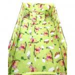 Lenjerie patut cu 5 piese Winnie The Pooh verde 120x60 cm