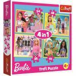 Puzzle 4 in 1 lumea lui Barbie