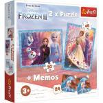 Puzzle trefl 2 in 1 memo frozen2 tinutul misterios