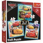 Puzzle trefl 3 in 1 Cars pregatiri pentru cursa