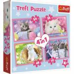 Puzzle trefl 4 in 1 pisicile  se distreaza