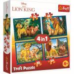 Puzzle trefl 4 in 1 Regele leu si prietenii