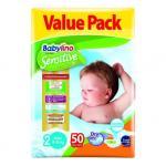 Scutece Babylino Sensitive Economy N2 3-6 kg/50 buc