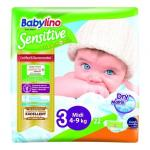 Scutece Babylino Sensitive N3 4-9 kg/22 buc
