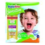 Scutece Babylino Sensitive N6 15-30 kg/15 buc