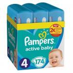 Scutece Pampers Active Baby XXL BOX Marimea 4 9 -14 kg 174 buc