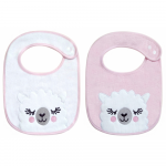 Set 2 bavete Sleepy Lama pink
