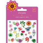 Set abtibilduri flori cu sclipici Djeco