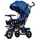 Tricicleta cu sezut rotativ Ecotoys albastra