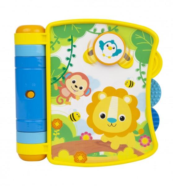 Carticica interactiva Winfun pentru bebelusi cu melodii si sunete