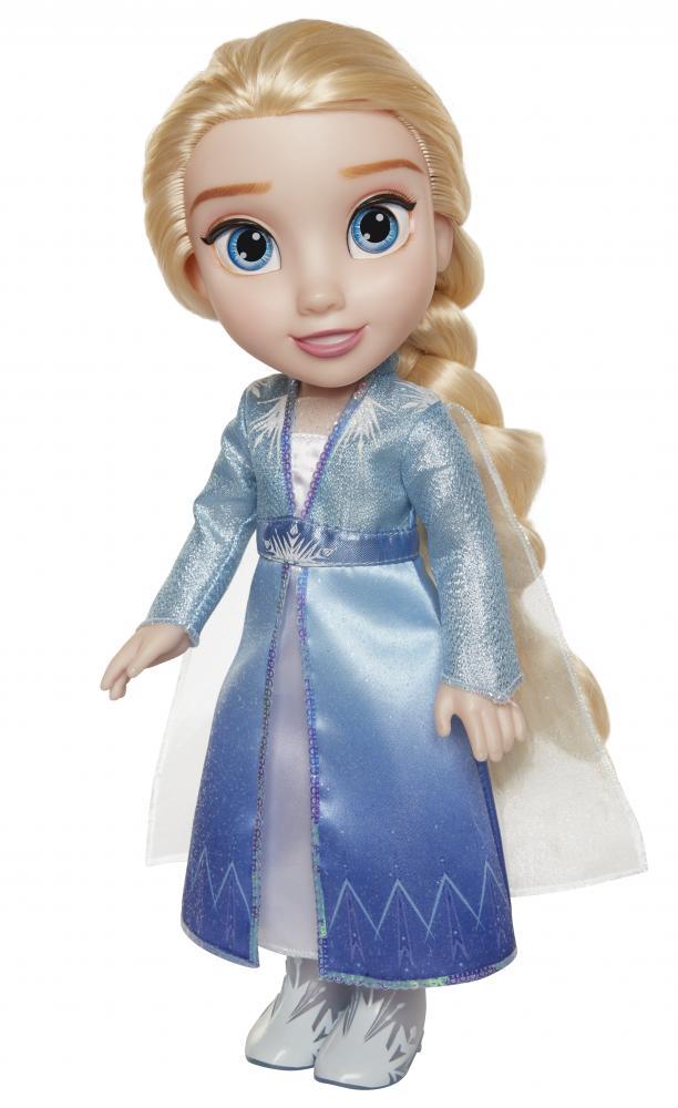Papusa Elsa cu rochie de calatorie Frozen 2