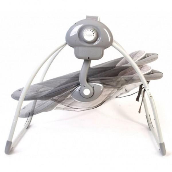 Leagan portabil BO Jungle Gri pentru bebelusi din lemn cu arcada jucarii imagine