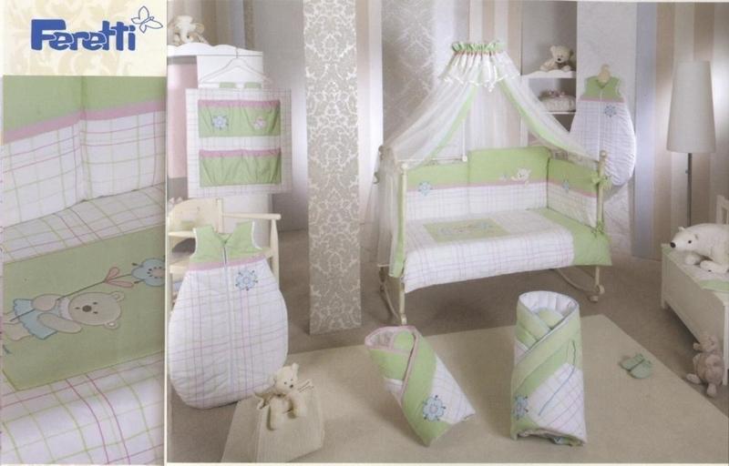 Lenjerie de pat Feretti Duetto Bella Lime din categoria Camera copilului de la FERETTI