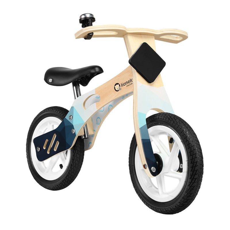 Bicicleta Din Lemn Fara Pedale Cu Roti Gonflabile Willy Indygo Lionelo