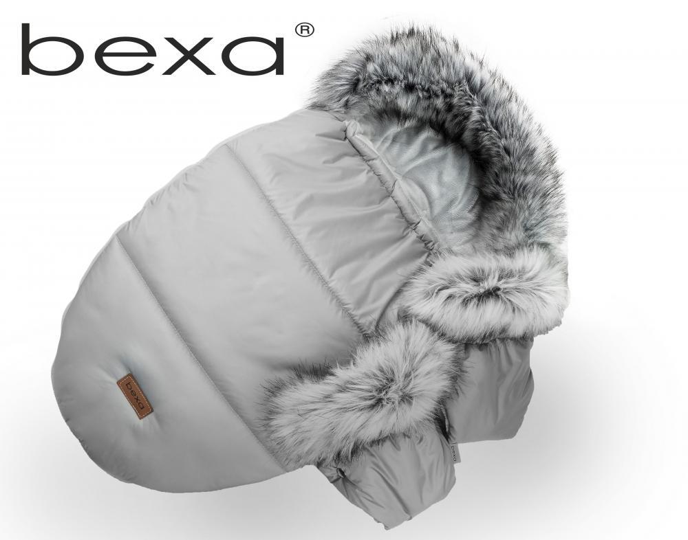 Manusi pentru manerul caruciorului Bexa cu blanita si interior fleece gri