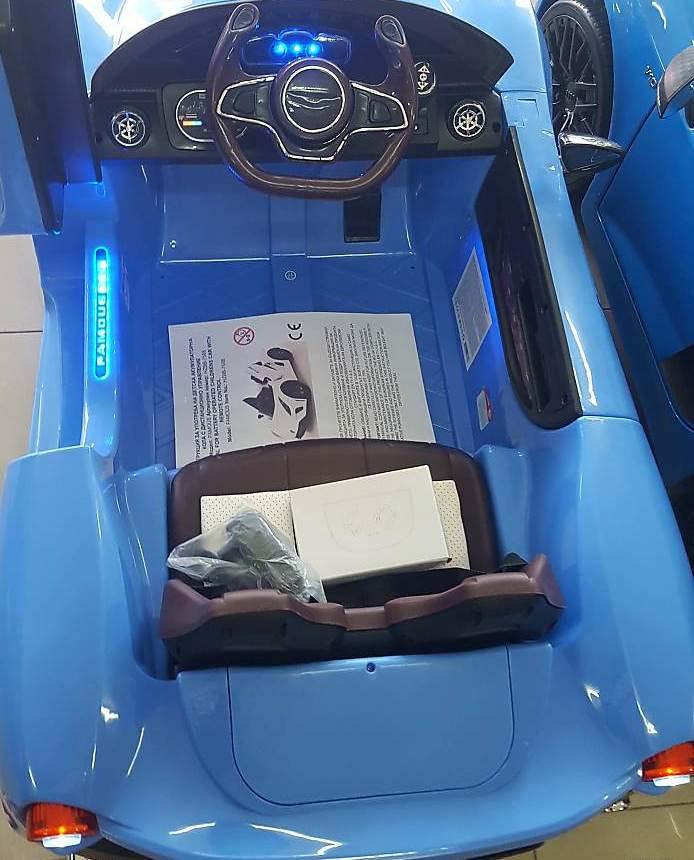 Masinuta electrica Moni cu telecomanda Magma blue