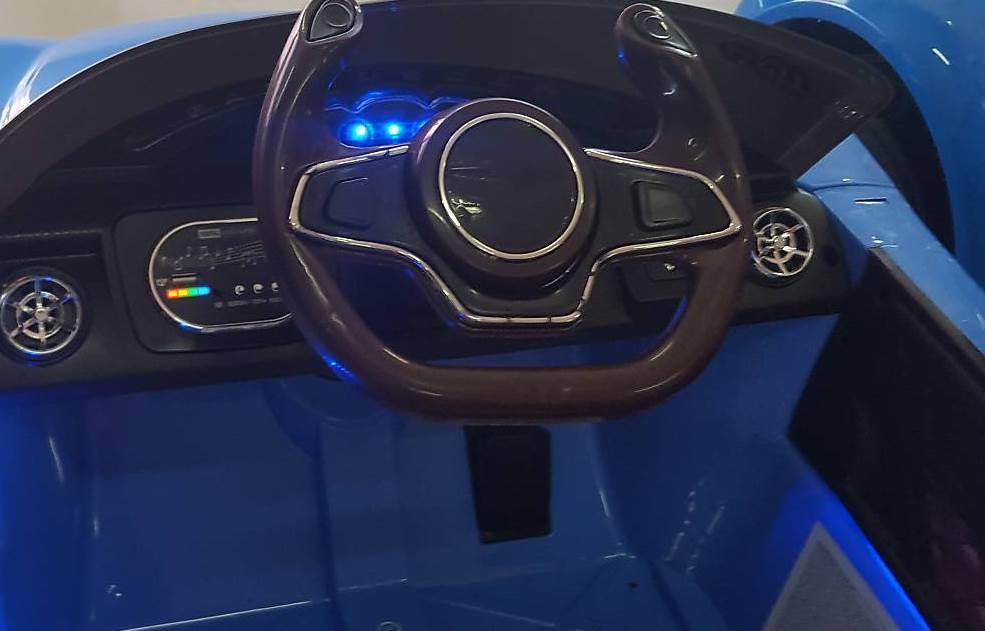 Masinuta electrica Moni cu telecomanda Magma blue - 1