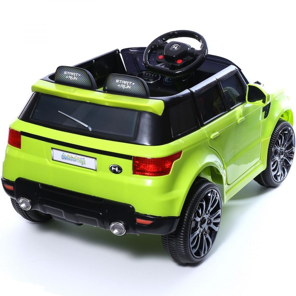 Masinuta electrica cu roti din cauciuc Thunder Eva Green imagine