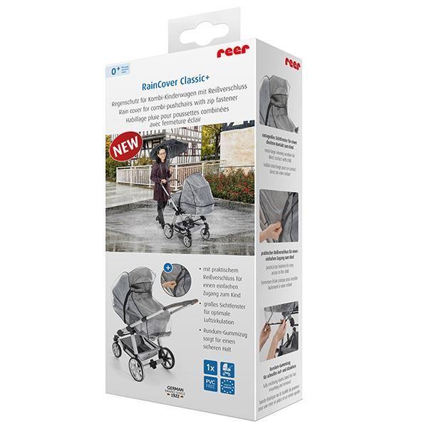REER Protectie de ploaie universala cu fermoar pentru carucioare RainCover Classic+ REER 84069