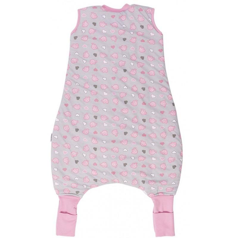 Sac de dormit cu picioruse si talpa antiderapanta Pink Elephant 12-18 luni 2.5 Tog imagine