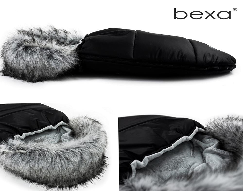Sac de dormit pentru carucior Bexa cu blanita si interior fleece negru